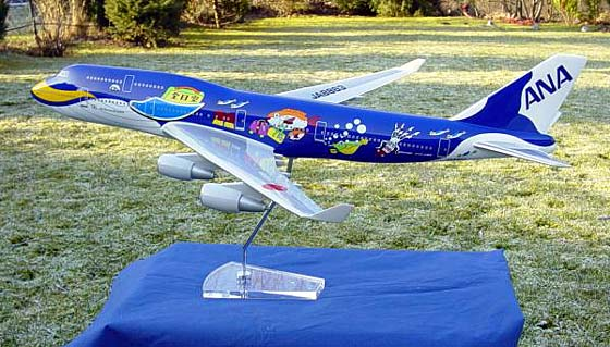 Flugzeugmodell: ANA All Nippon Airways Boeing 747-400 1:100 The Whale