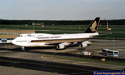 Flugzeugmodell: Singapore Airlines Boeing 747-400 1:50