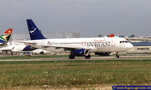 Flugzeugmodell: Syrianair - Syrian Arab Airlines Airbus A320 1:100